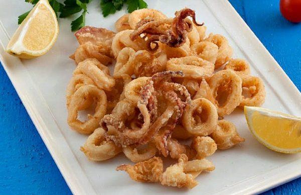 Fried Kalamari - Aljalboot Restaurant in Dubai