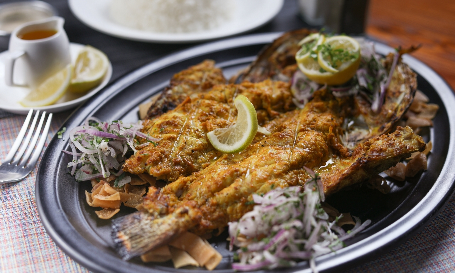grilled hamour fish