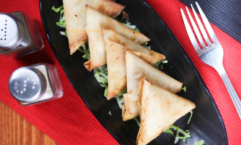 starters cheese samosas