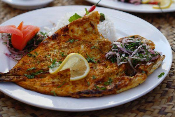 Grilled Sea Bream Fish - Aljalboot Restaurant in Dubai