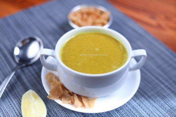 Lentil Soup - Aljalboot Restaurant in Dubai
