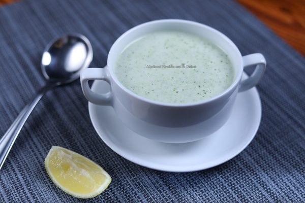 Broccoli Soup - Aljalboot Restaurant in Dubai